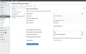 Konfiguration der Bounce Verwaltung im wpNewsletterGermany