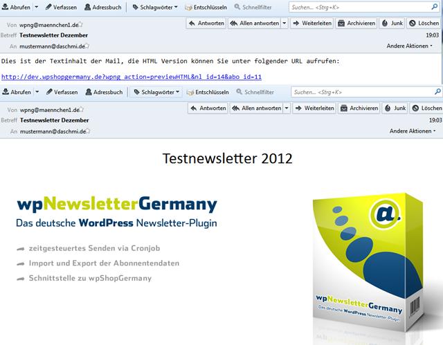 Multipart Mails im wpNewsletterGermany (Oben Text/Unten HTML)